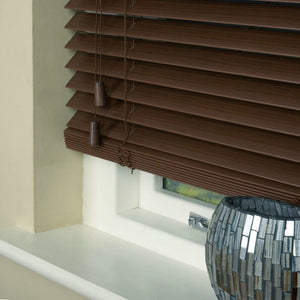 35mm Essence Fauxwood Venetian Blind Lima Mahogany