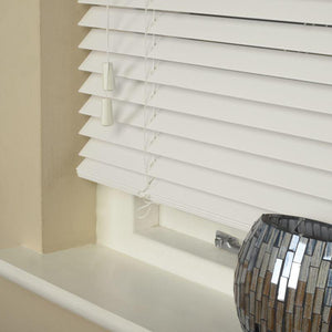 35mm Essence Fauxwood Venetian Blind True White