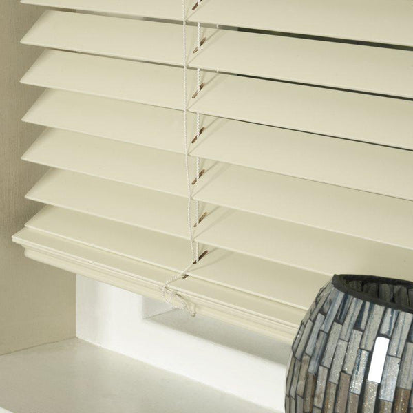 35mm Basswood Venetian Blind Oyster