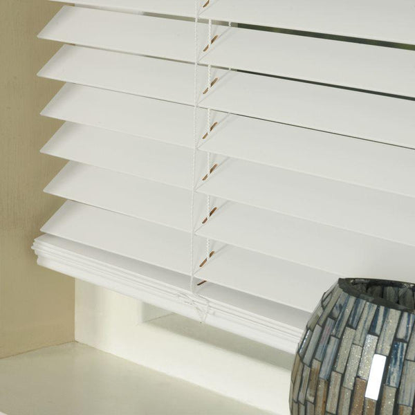 35mm Basswood Venetian Blind White