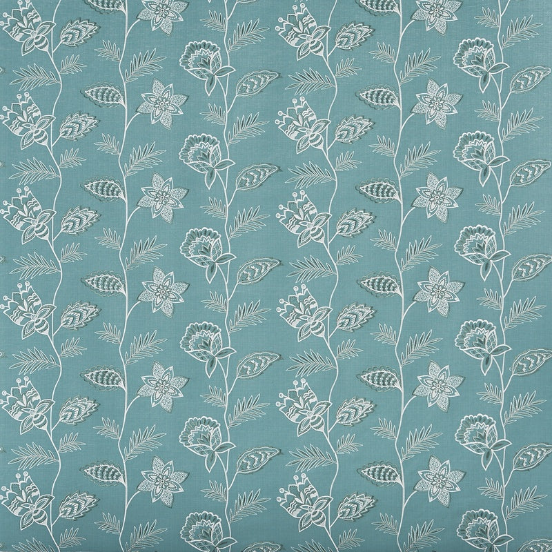Gypsy Curtain Fabric In Teal Uk Delivery Terrys Fabrics Uk