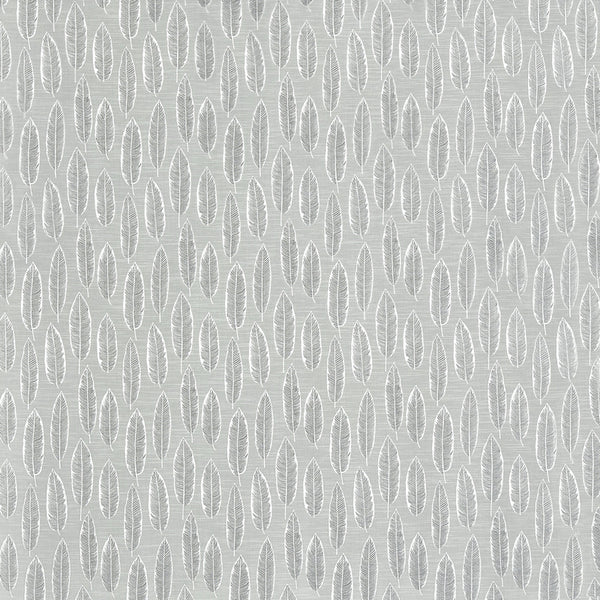 Quill Curtain Fabric Silver