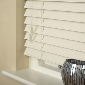 50mm Essence Fauxwood Venetian Blind Fine Grain Mirage Parchment