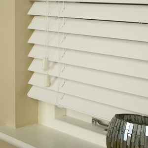50mm Essence Fauxwood Venetian Blind Mirage Parchment