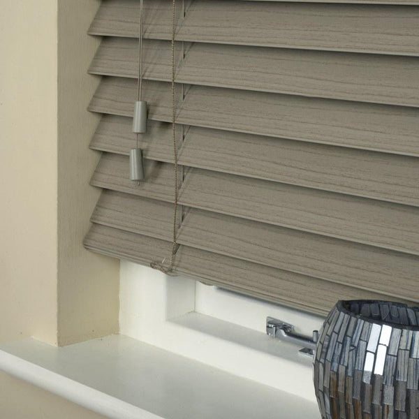50mm Essence Fauxwood Venetian Blind Stratus Grey