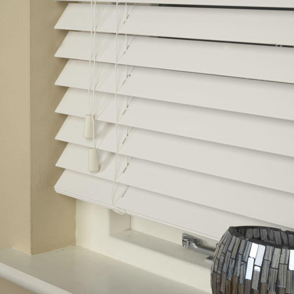 50mm Wood Essence Venetian Blind True White