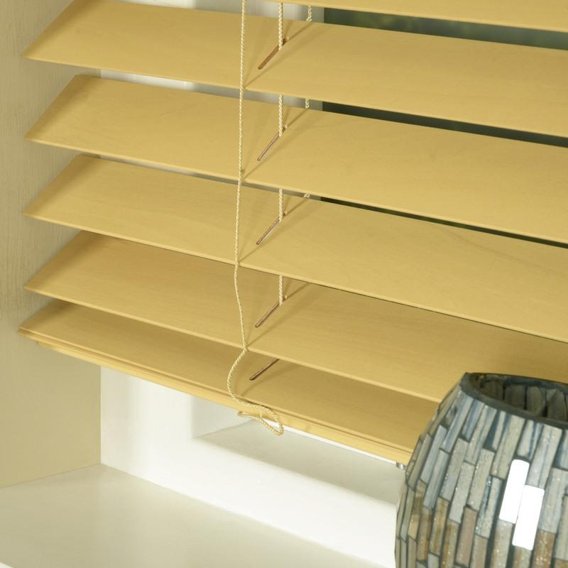 Styline Blinds 50mm Basswood Venetian Blind Natural Picture