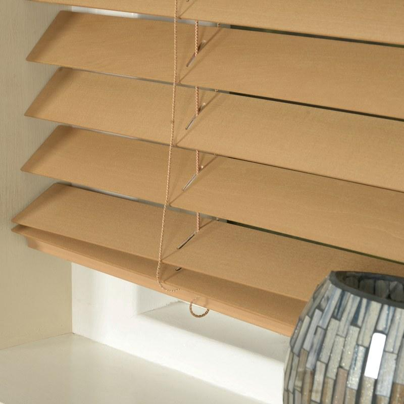Styline Blinds 50mm Basswood Venetian Blind Sugar Maple