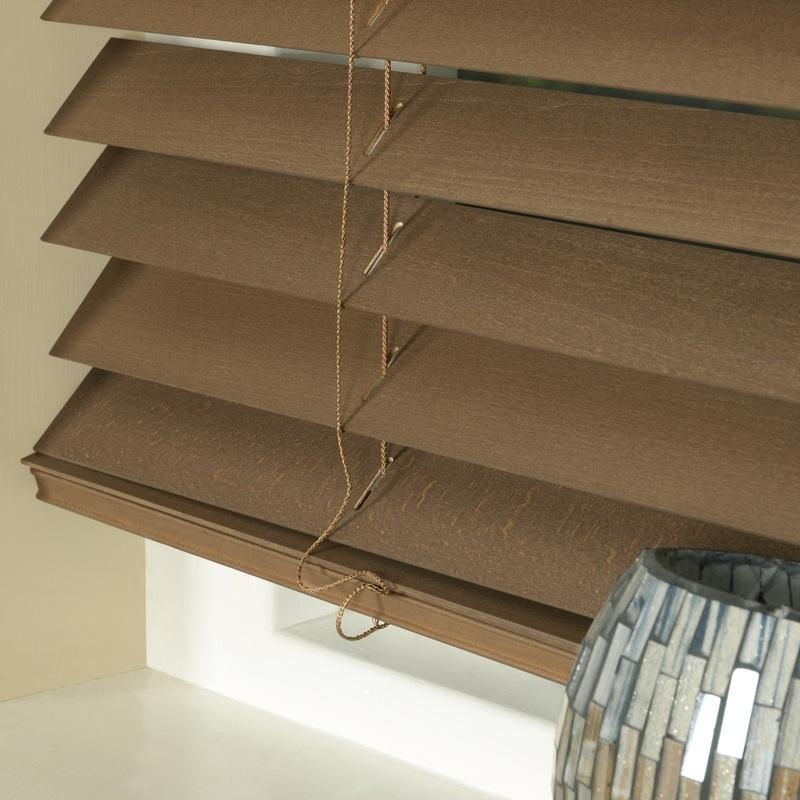 Styline Blinds 50mm Basswood Venetian Blind Walnut