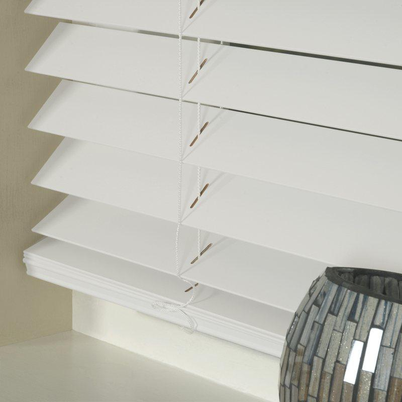 Styline Blinds 50mm Basswood Venetian Blind White Picture