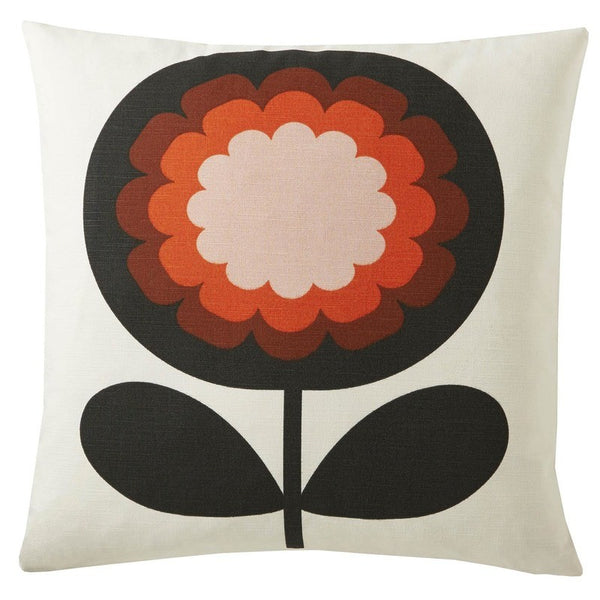Orla Kiely - 70s Frilly Flower Filled Cushion Persimmon