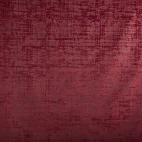 Imagination Crushed Velvet Curtain Fabric Cardinal
