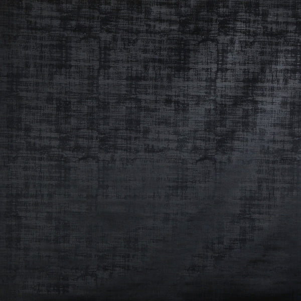 Imagination Crushed Velvet Curtain Fabric Black