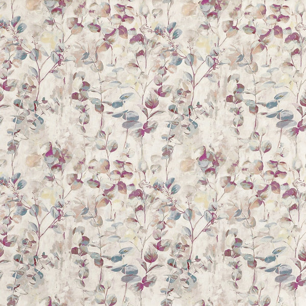 Aquarelle Curtain Fabric Wild Rose