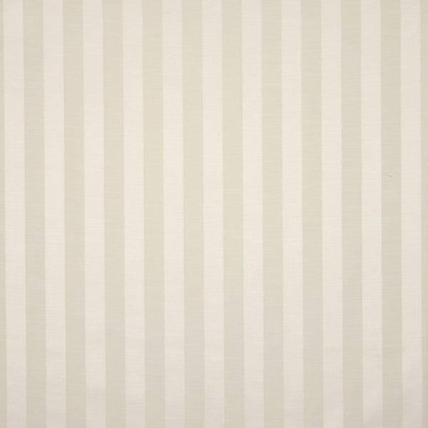 Ascot Stripe Curtain Fabric Ivory