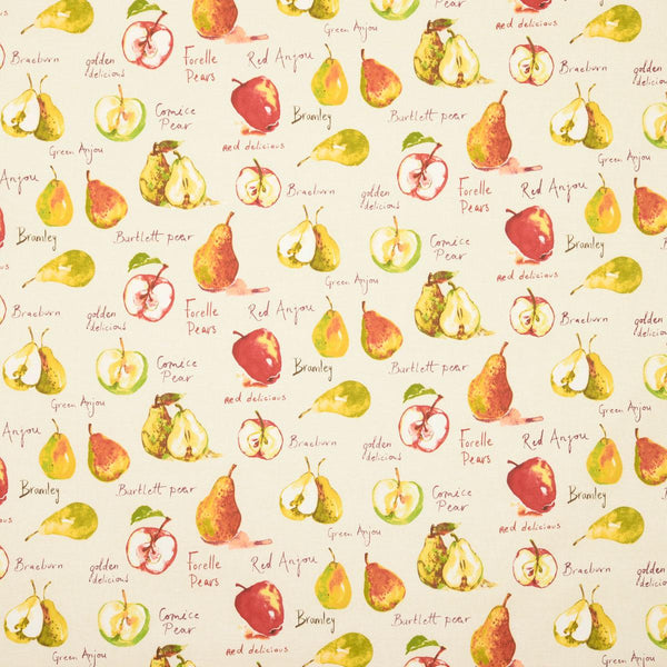 Autumn Fruits Curtain Fabric Linen