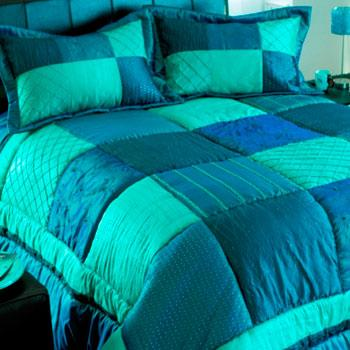 Bejewelled Quilted Bedspread Sapphire