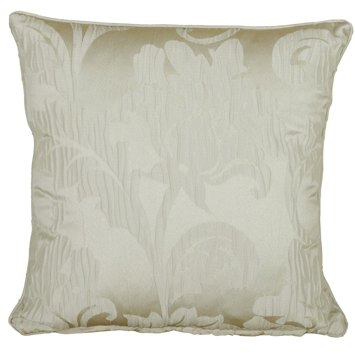 J Rosenthal Cushions And Throws  Baroque Square Cushion Filled Natural