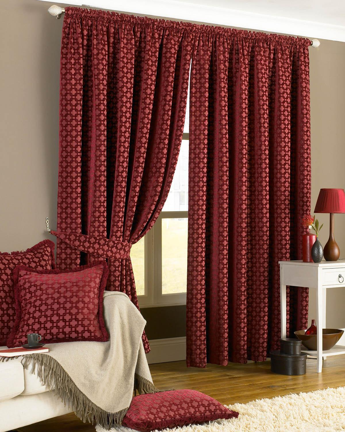 Riva Ready Made Curtains Belmont Ready Made Lined Curtains Claret Picture
