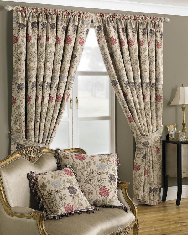 Charlotte Ready Made Lined Curtains Multi