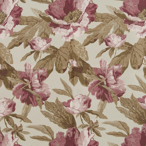 Chateaux Curtain Fabric Teaberry