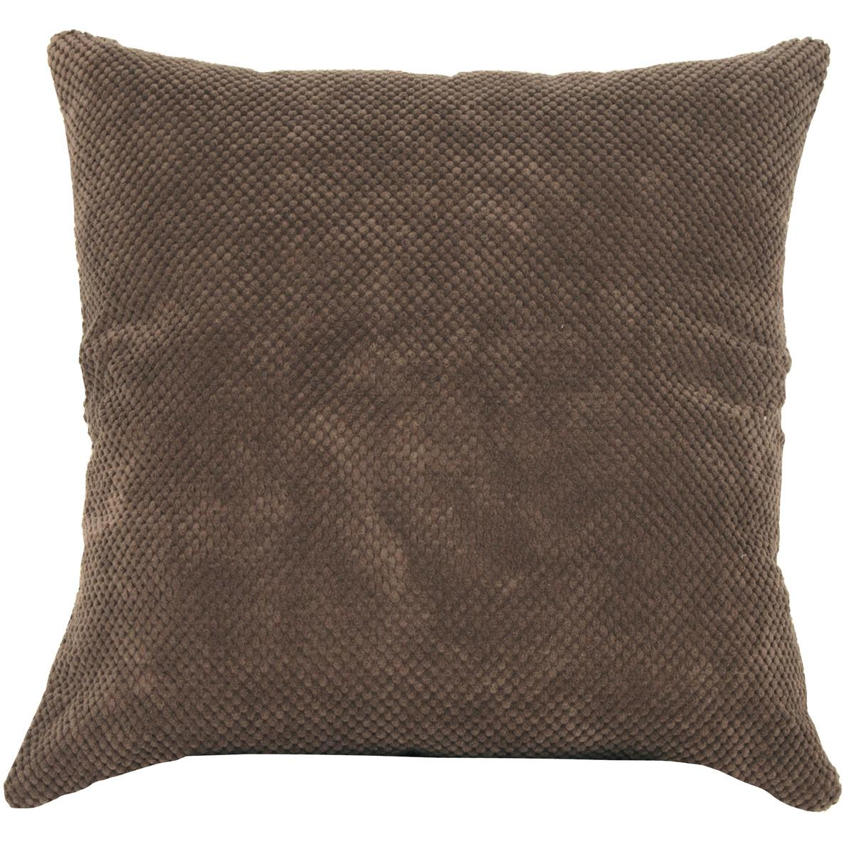 Chenille Spot Cushion Cov Chocolate