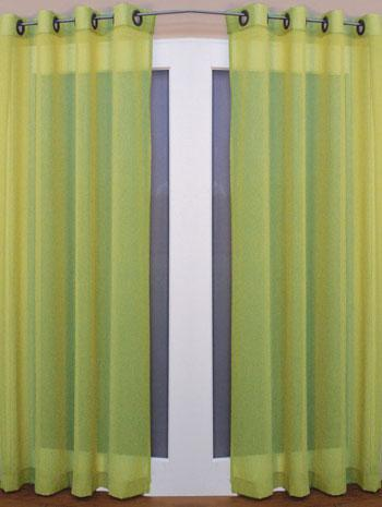 Darwin Eyelet Voile Curtain Panel Lime