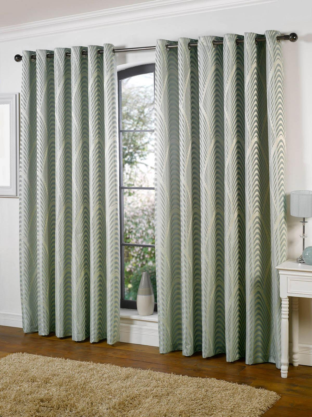 Texcraft Ready Made Curtains Dakota Lined Eyelet Ready Made Curtains Duck Egg