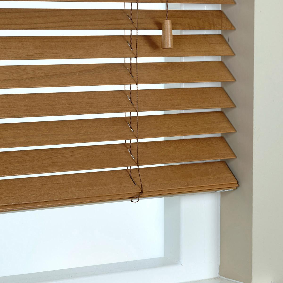 Click to view product details and reviews for 50mm Elementi Wood Venetian Blind Tuscan Oak.