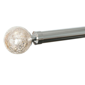 28mm Empire Eyelet Curtain Pole Chrome