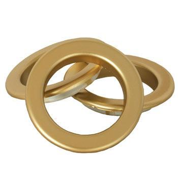 Matt Gold Eyelet Ring Matt gold