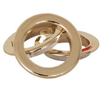 Shiny Gold Eyelet Rings Shiny Gold