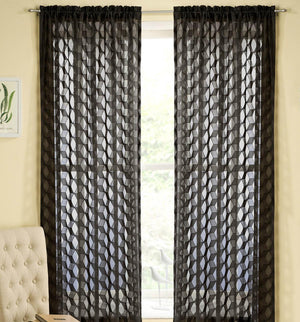 Fairmont Rod Pocket Voile Panel Black