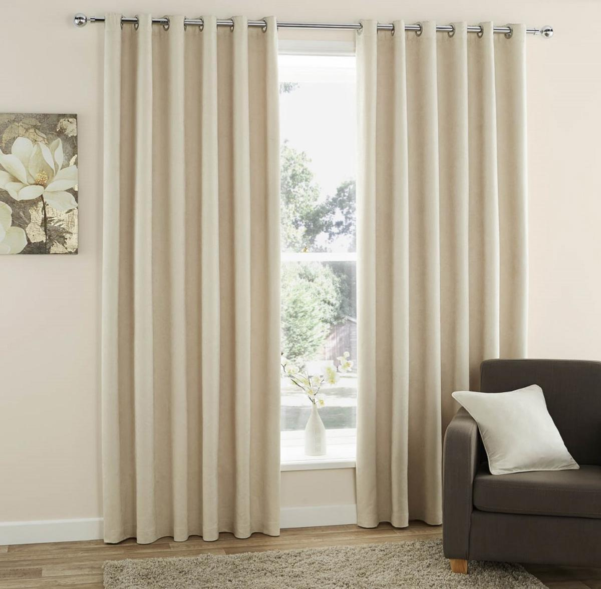 J Rosenthal Ready Made Curtains Faux Suede Ready Made Eyelet Curtains  ... Picture