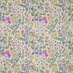 Field Flowers Curtain Fabric Bilberry