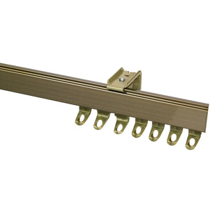 Fineline Curtain Track Antique Brass