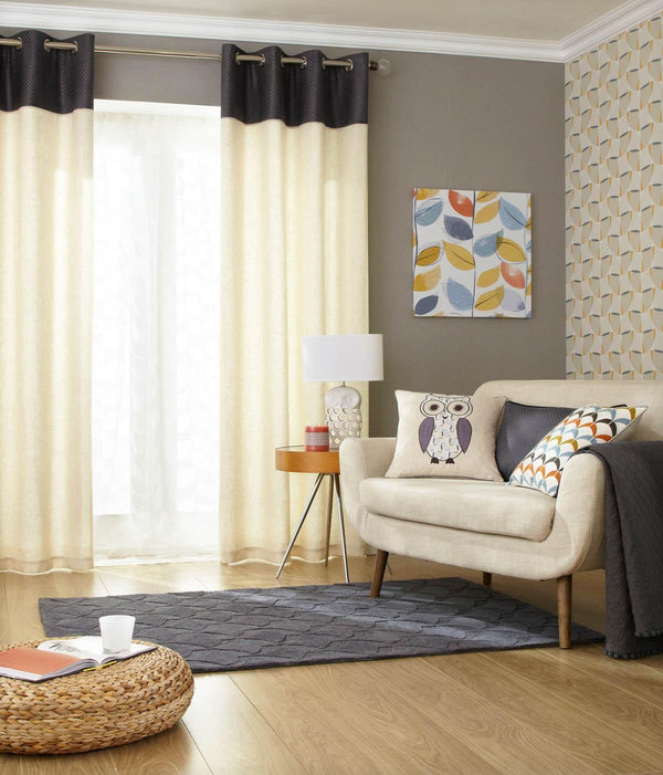 Contour Ready Made Eyelet Curtains Tangerine