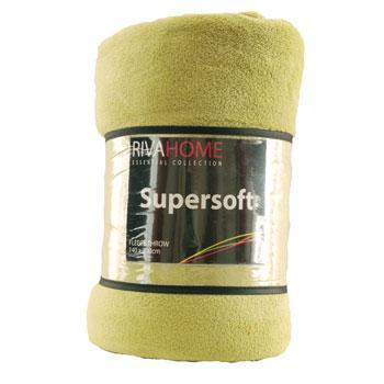 Supersoft Fleece Throw Lime
