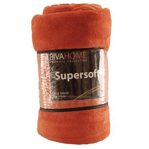 Supersoft Fleece Throw Paprika