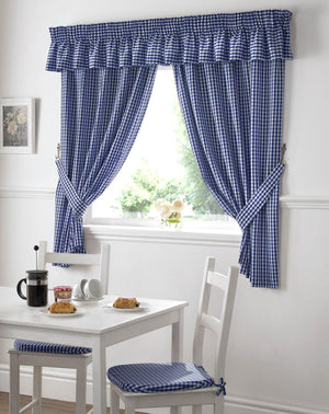 Gingham Value Curtains Blue