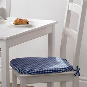 Gingham Value Seat Pad Blue