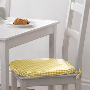 Gingham Value Seat Pad Yellow