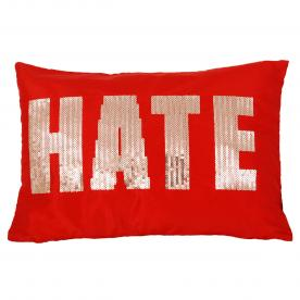 Hate Cushion Red