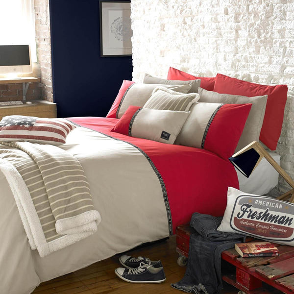 Hudson Printed Duvet Red