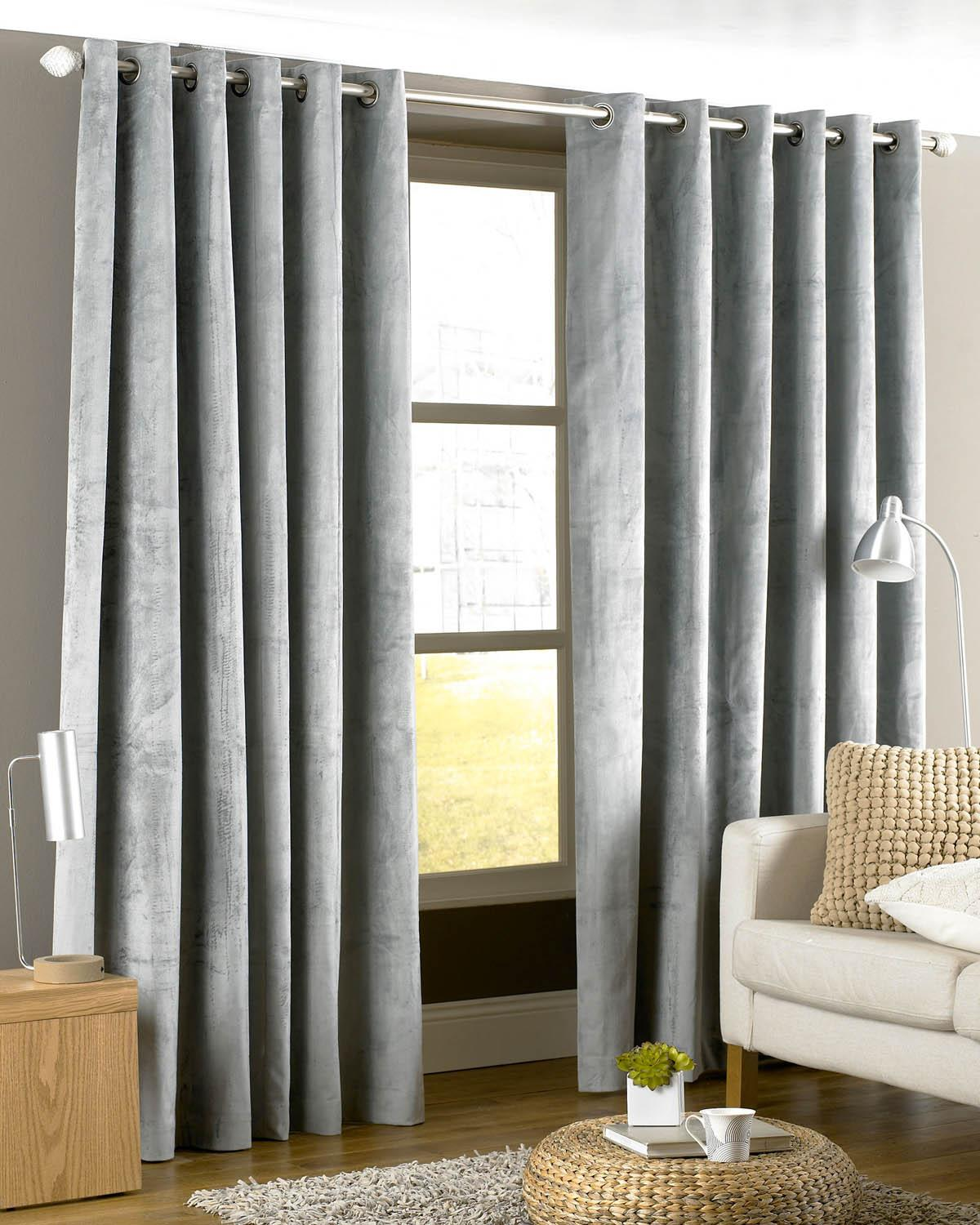 Riva Ready Made Curtains Imperial/Emperor Readymade Lined curtains Silver