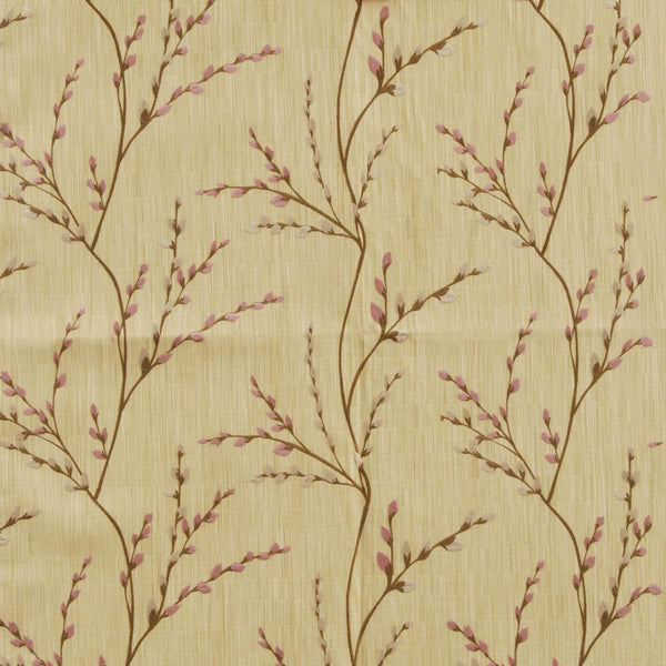 Jasmine Jacquard Curtain Fabric Teaberry