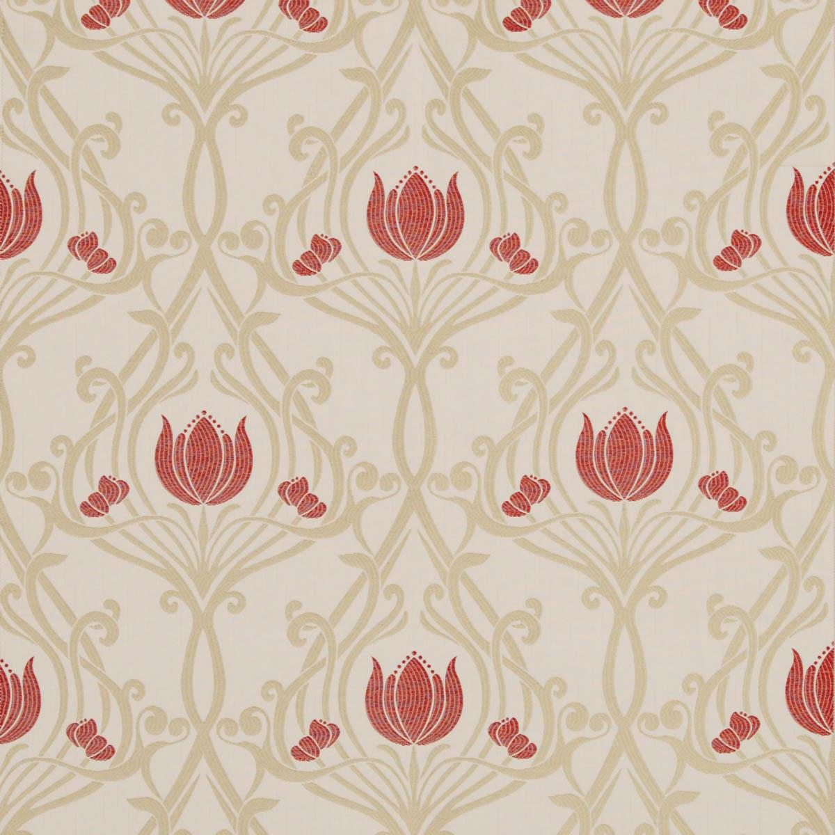 SMD Fabrics Lalique Curtain Fabric Ruby Picture