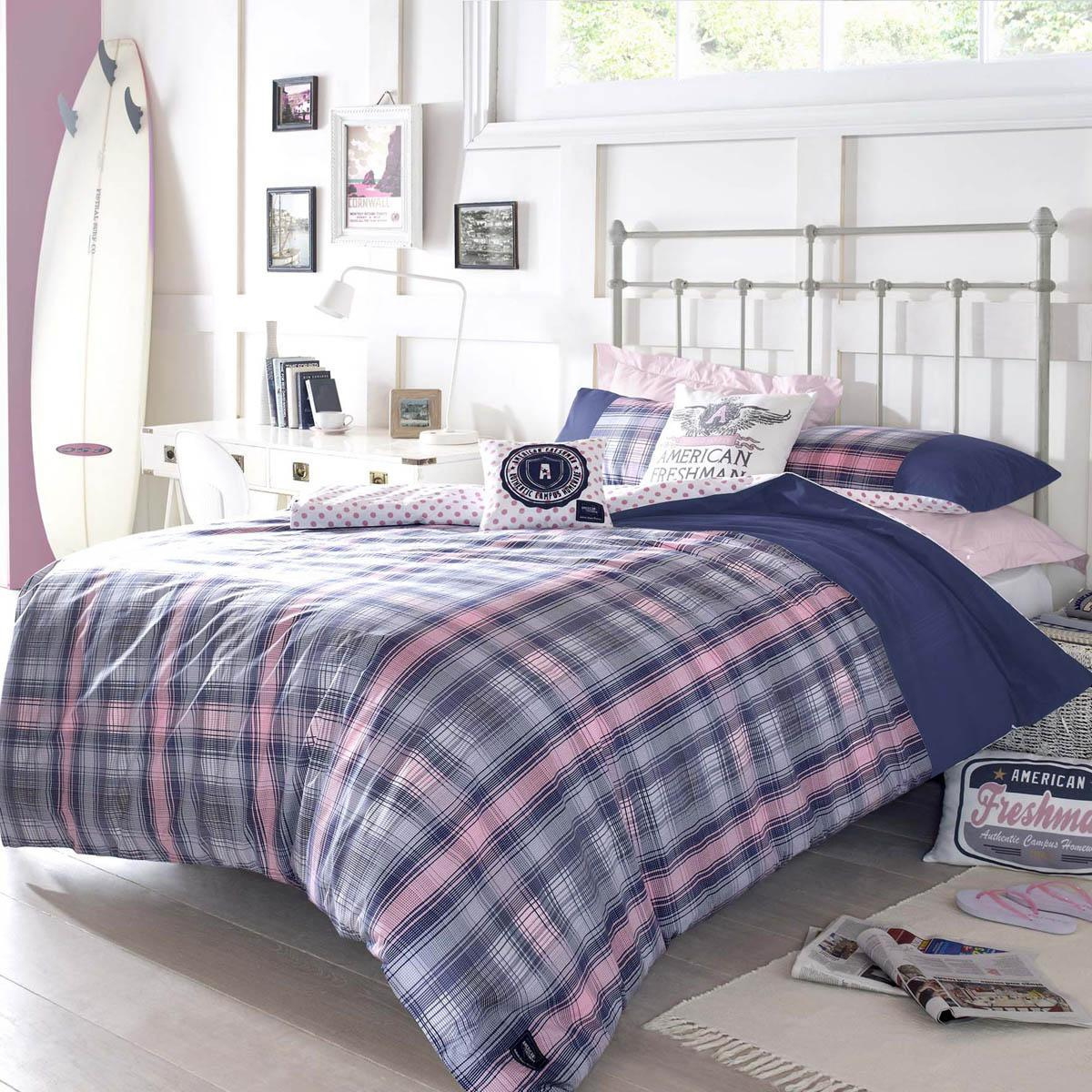 Ashley Wilde Bedding  Louisiana Printed Duvet Navy