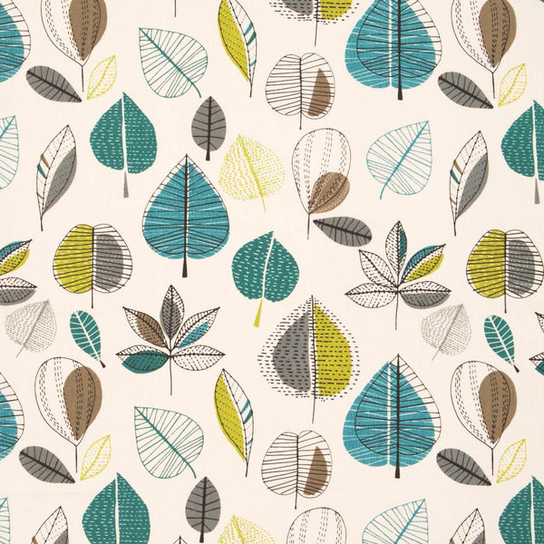 Maple Curtain Fabric Teal