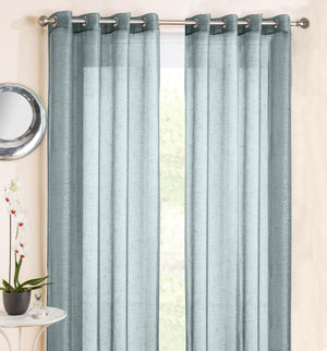 Marrakesh Eyelet Voile Panel Duck Egg Blue